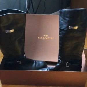 Size 8 real leather Coach boots